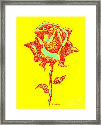Red Rose Paintings 1 Framed Print by Gordon Punt