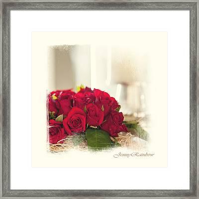Red Rose Wish. Elegant Knickknacks From Jennyrainbow Framed Print by Jenny Rainbow