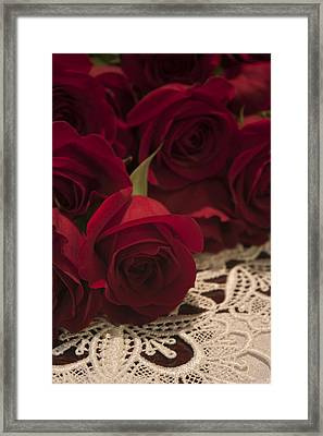 Red Roses Bouquet Framed Print by Ivete Basso Photography
