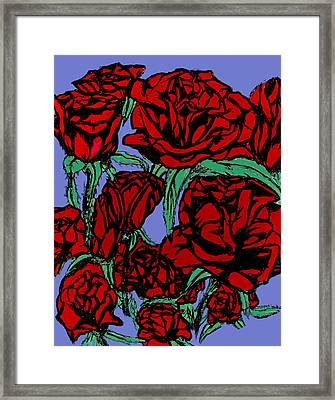 Red Roses On Parade Framed Print