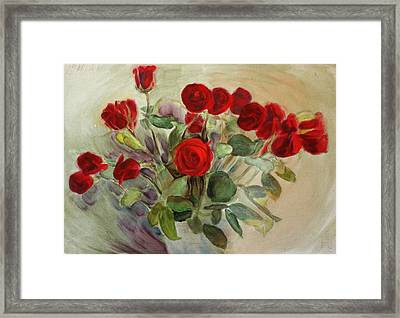 Red Roses Framed Print by Tanya Byrd