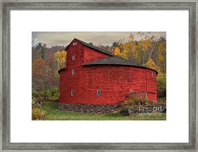 Red Round Barn Framed Print