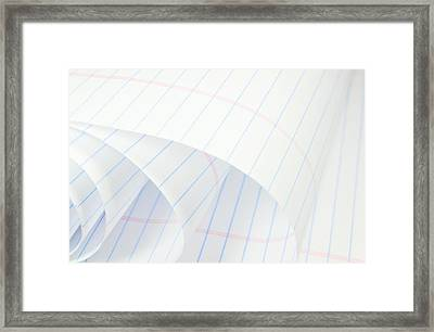 Red Ruled Pages Framed Print by Diana Angstadt