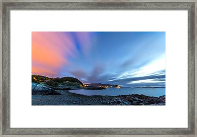 Red Running Clouds Framed Print by Mohsen Khosravi