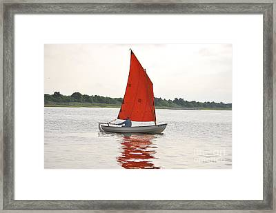 Red Sails Framed Print by Bob Sample