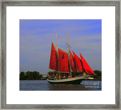 Red Sails Framed Print by Kathleen Struckle