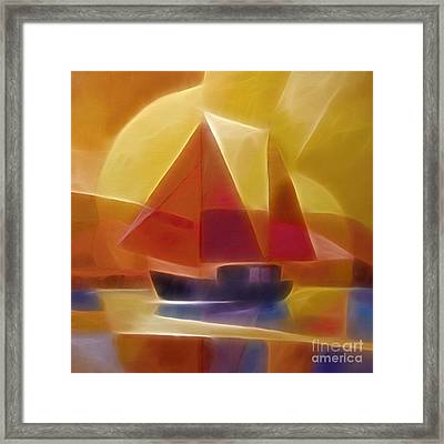Red Sails Framed Print by Lutz Baar