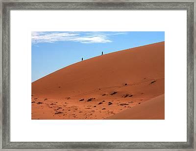 Red Sand Dunes Framed Print by Aidan Moran
