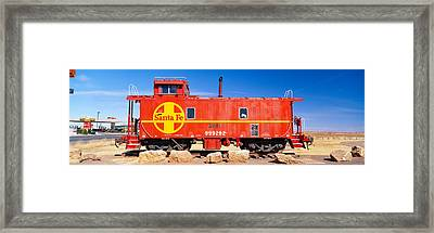 Red Santa Fe Caboose, Arizona Framed Print by Panoramic Images