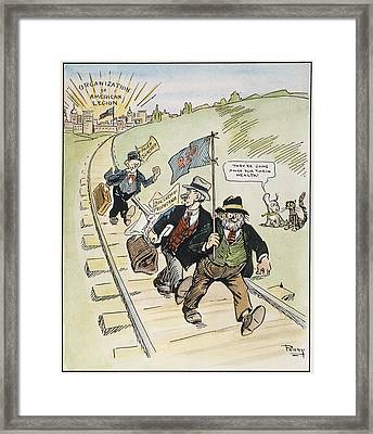 Red Scare Cartoon, 1919 Framed Print by Granger