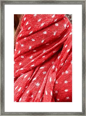 Red Scarf Framed Print
