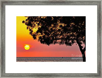 Red Sea Sunset Framed Print by George Paris