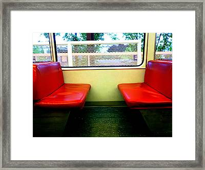 Red Seats Transportation Framed Print