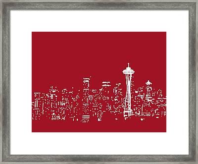Red Seattle Framed Print