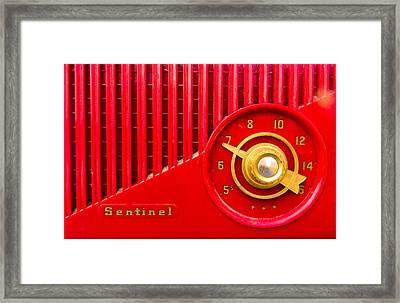 Red Sentinel Framed Print