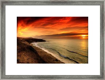 Red Serenity Sunset Framed Print
