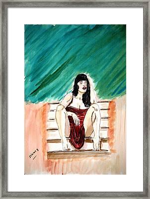 Red Sexy Passion Framed Print by Shlomo Zangilevitch