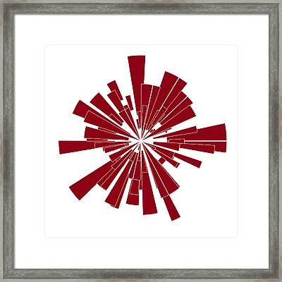 Red Shape Framed Print by Frank Tschakert
