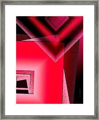 Red Shapes Framed Print by Mario Perez