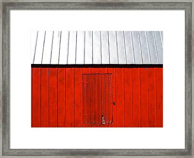 Red Shed Framed Print by Sheryl Burns