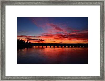 Red Shine Sunset Framed Print