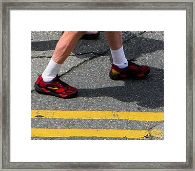 Red Shoes Framed Print by Christy Usilton