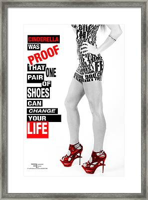 Red Shoes Framed Print by Fussgangerfoto