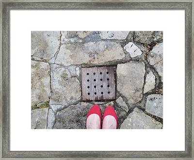 Red Shoes Framed Print by Gia Marie Houck
