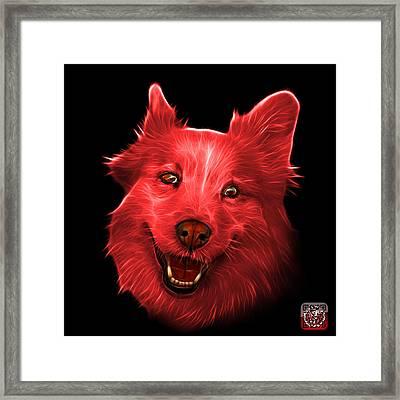 Red Siberian Husky Mix Dog Pop Art - 5060 Bb Framed Print by James Ahn