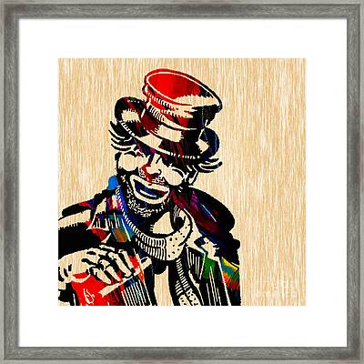 Red Skelton Collection Framed Print by Marvin Blaine
