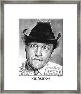 Red Skelton Framed Print by Greg Joens