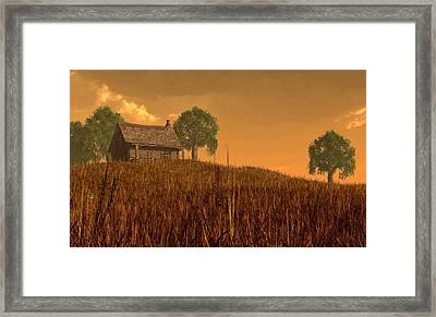 Red Skies At Night Framed Print by Daniel Eskridge