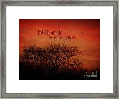 Red Skies Framed Print