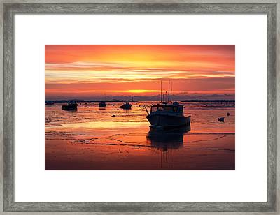 Red Skies In Rye Framed Print by Eric Gendron