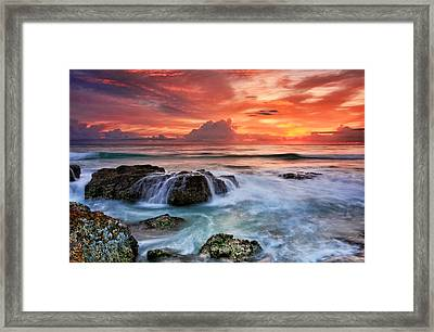 Red Sky At Dawn Framed Print