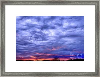 Red Sky At Dawn Framed Print by Thomas R Fletcher