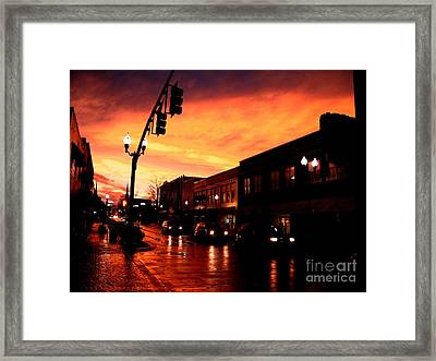 Red Sky At Dusk Framed Print by   Joe Beasley
