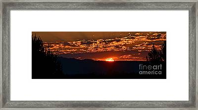 Framed Print featuring the photograph Red Sky At Morning by Barbara Dudley