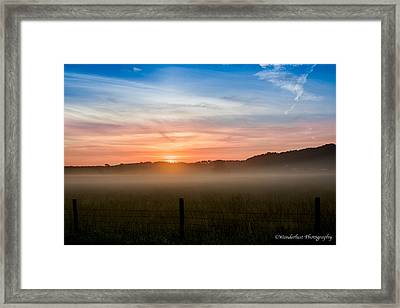 Red Sky At Morning Sailor Take Warning Framed Print by Paul Herrmann