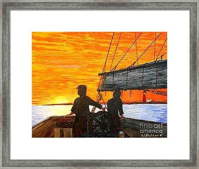 Red Sky At Night A Sailor's Delight Framed Print by Bill Hubbard