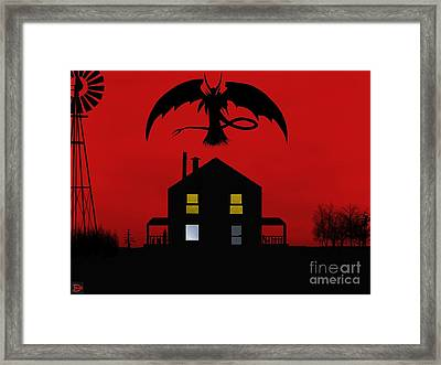 Red Sky At Night... Framed Print