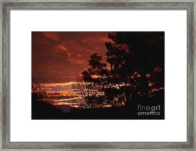 Red Sky At Night Framed Print by Cris Hayes