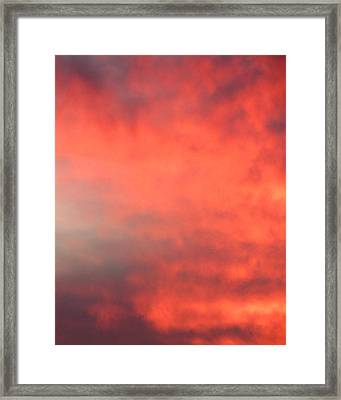 Red Sky At Night Framed Print by Laurel Powell