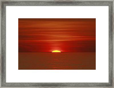 Red Sky At Night Framed Print by Michael Allen