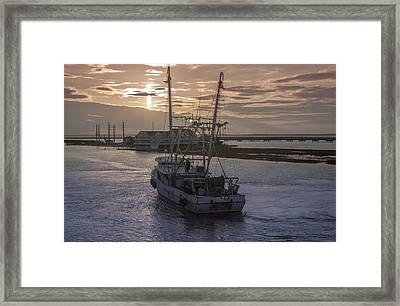 Red Sky At Night Framed Print by Photographic Arts And Design Studio