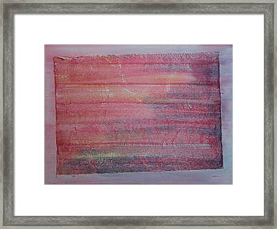 Red Sky At Night Sailors Delight Framed Print by Asha Carolyn Young