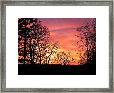 Red Sky At Night Sailor's Delight Framed Print
