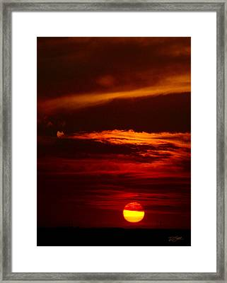 Red Sky At Night Vertical Framed Print