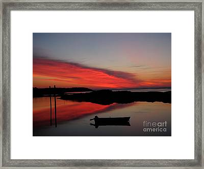 Red Sky In Morning Framed Print by Donnie Freeman