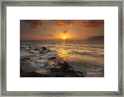 Red Sky In Paradise Framed Print by Mike Dawson